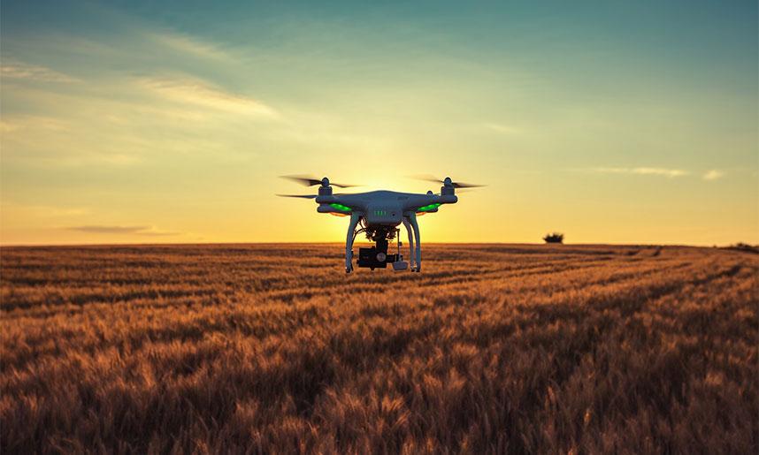 Usando drones agricultura precisión
